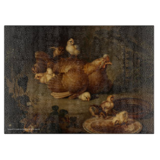 """""""Hen and Chickens"""" Cutting Board"""