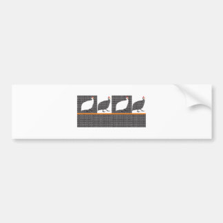 Hen Angola Pintadinha Bumper Stickers
