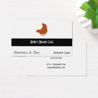 Hen [chicken, farmer, organic eggs] business card