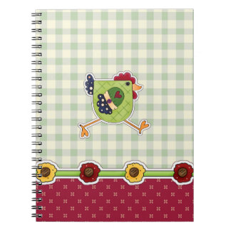 Hen Country Design Easter Gift Notebook