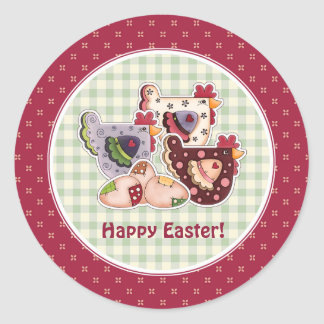 Hen Country Design Easter Gift Stickers