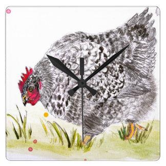hen kitchen clock