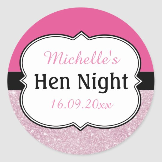 Hen Night Personalised Classic Round Sticker