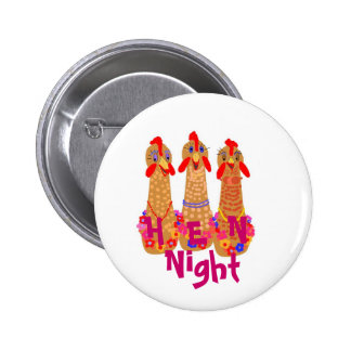 Hen Night Pin Back Buttons
