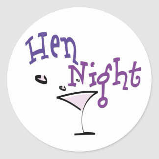 Hen Night Round Sticker