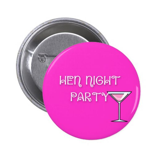 Hen Party Badge Pins