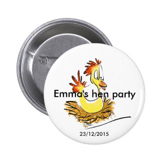 Hen party badge (name) (date)