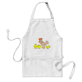 Hen with chicks standard apron