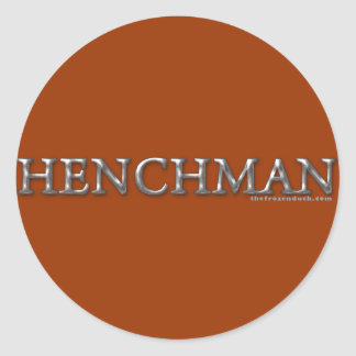 Henchman Round Sticker