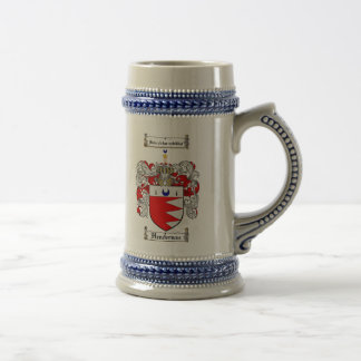 Henderson Coat of Arms Stein / Henderson Crest Coffee Mug