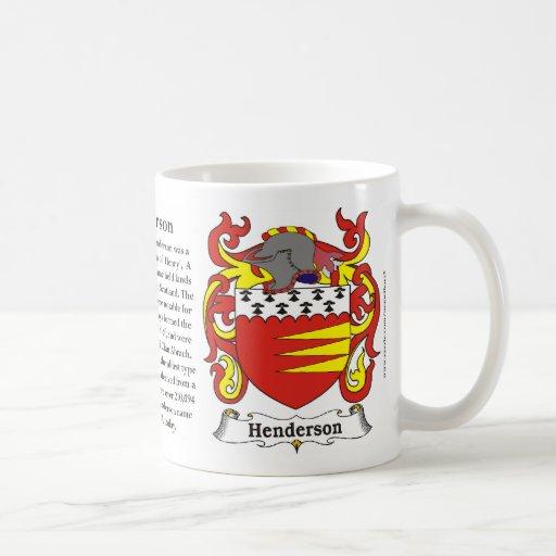 Henderson Family Coat of Arms Mug