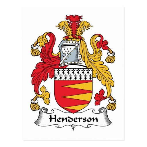 Henderson Family Crest Post Card