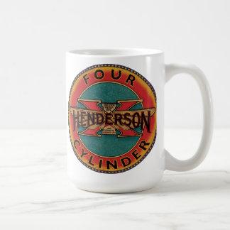 Henderson four cylinder motorcycle sign basic white mug