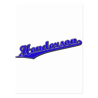 Henderson in Blue Postcard