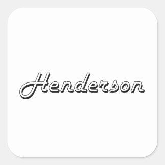 Henderson Nevada Classic Retro Design Square Sticker
