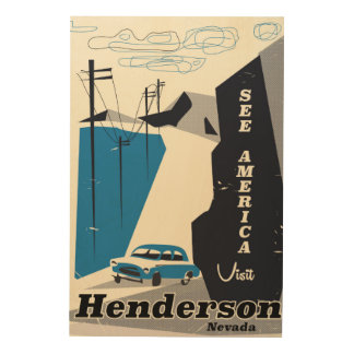 Henderson Nevada USA travel poster