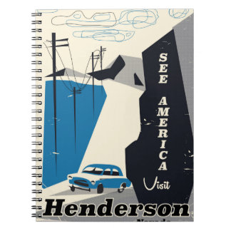 Henderson Nevada USA travel poster Notebooks