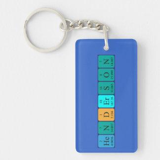 Henderson periodic table name keyring Single-Sided rectangular acrylic key ring