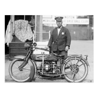 Henderson Police Motorcycle, 1922 Postcard