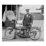 Henderson Police Motorcycle, 1922 Print