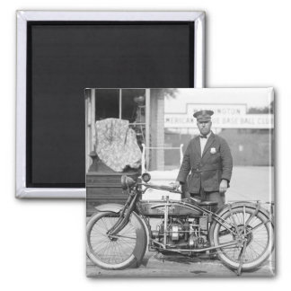 Henderson Police Motorcycle, 1922 Square Magnet