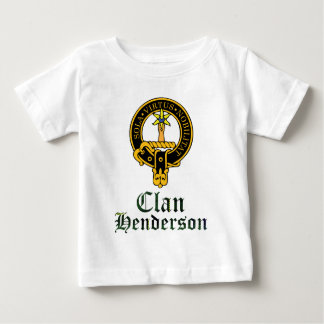 Henderson scottish crest and tartan clan name baby T-Shirt
