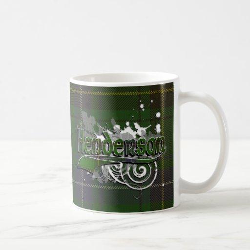Henderson Tartan Grunge Coffee Mug