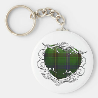 Henderson Tartan Heart Basic Round Button Key Ring