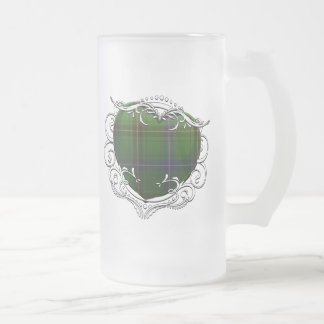 Henderson Tartan Heart Frosted Glass Beer Mug