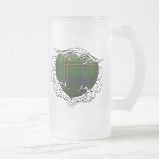 Henderson Tartan Heart Frosted Glass Mug