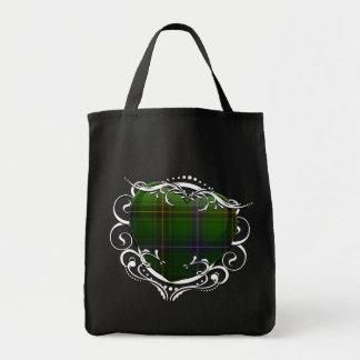 Henderson Tartan Heart Grocery Tote Bag