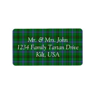 Henderson Tartan Label Address Label