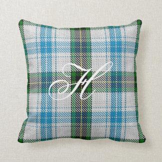 Henderson Tartan Monogram Pillow Cushion