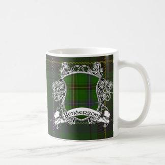 Henderson Tartan Shield Basic White Mug