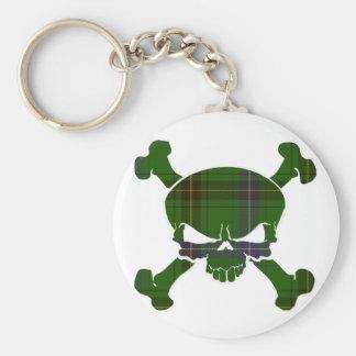 Henderson Tartan Skull No Banner Key Ring