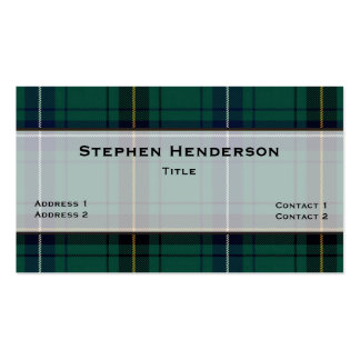 Henderson Teal Tartan Plaid Custom Double-Sided Standard Business Cards (Pack Of 100)