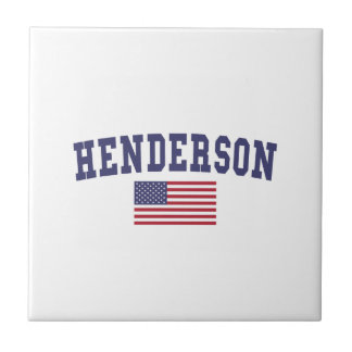 Henderson US Flag Small Square Tile