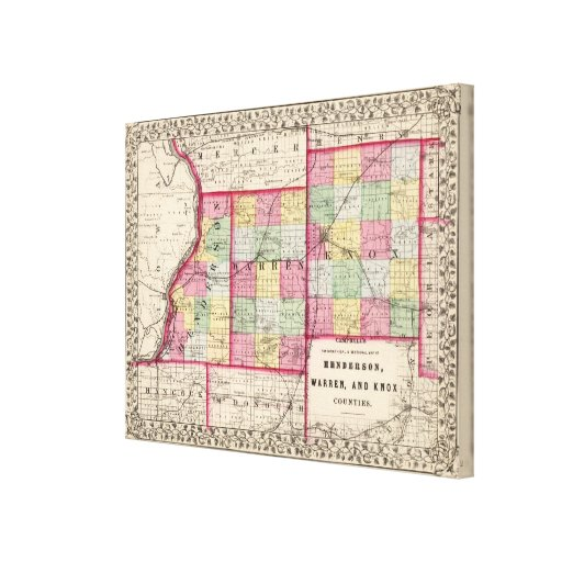 Henderson, Warren, Knox counties Gallery Wrapped Canvas