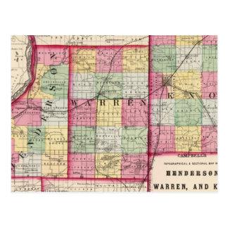 Henderson, Warren, Knox counties Postcard