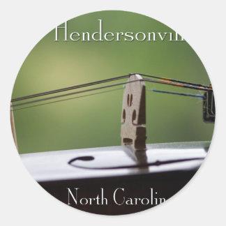 Hendersonville, NC Music Round Sticker