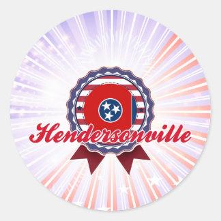 Hendersonville, TN Round Stickers