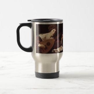 Hendrick Terbrugghen- Woman Playing the Lute Coffee Mug