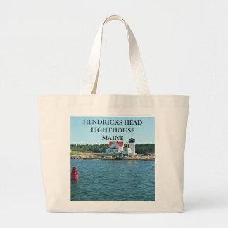 Hendricks Head Lighthouse, Maine Jumbo Tote Bag