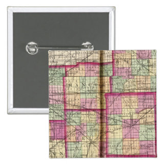 Hendrickson County and Marion County 15 Cm Square Badge