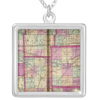 Hendrickson County and Marion County Square Pendant Necklace