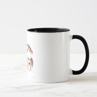 Henham the Metallic Red and Gold Dragon Mug