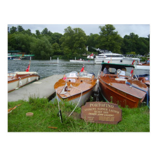Henley on Thames, Antique motor boats Postcard