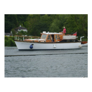 Henley on Thames, CClassic motorboat on the Thames Postcard