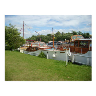Henley on Thames, Classic motorboats on the Thames Postcard
