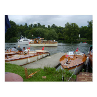Henley on Thames, Classic Motorboats Postcard